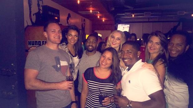 Enjoying a fun night at Kung Fun Saloon on Washington Avenue, in Houston