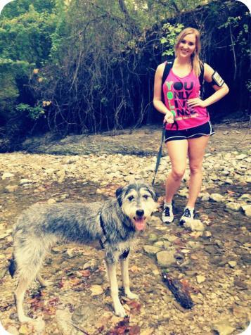 Hiking with Sasha at Arbor Hills