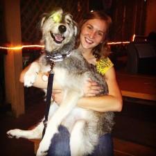 With Sasha in Houston
