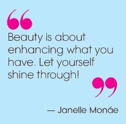 Beauty is about enhancing