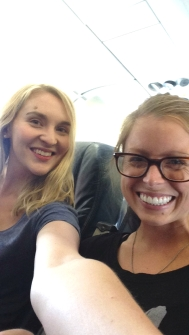 On the plane with Leah