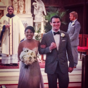 The new married couple, Monica & Kemp Knott (click to view their wedding site)