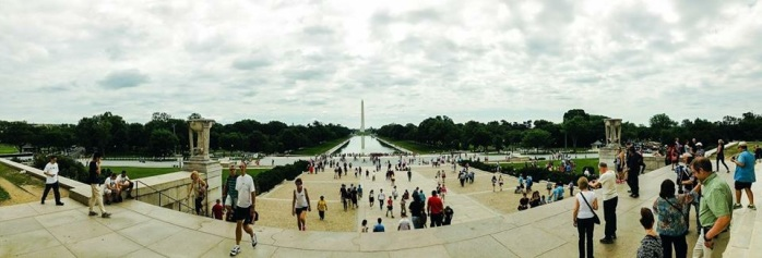Panoramic View of the Washington Monument and Reflecting Pool